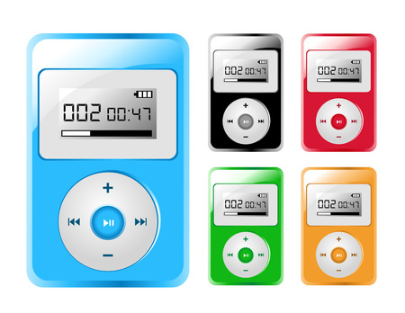 interact: Five Colored MP3 Players