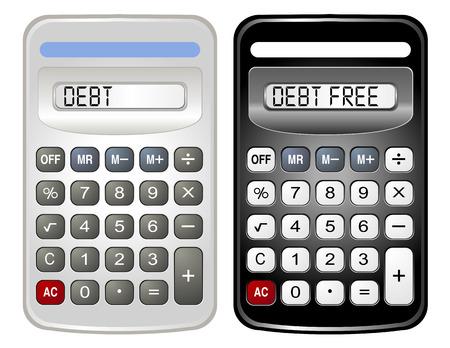 빚: Two Calculators (Debt and Debt Free) 일러스트
