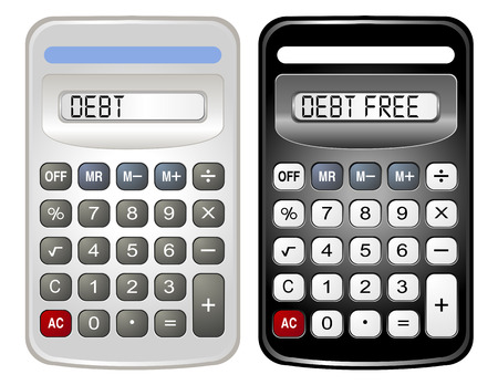 salaries: Two Calculators (Debt and Debt Free) Illustration