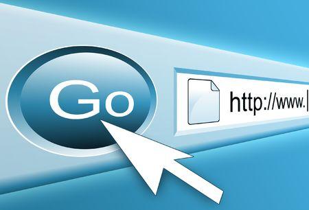 Internet Search Button Stock Photo - 3914095
