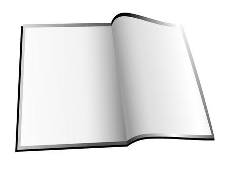 Open White Booklet Magazine Stock Vector - 3914100