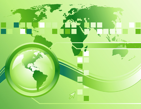 choose a path: A green globe is on the left side of a binary background and a wave if going through it. There is a map of the Earth and squares going across the top. Use this for a technology or internet background.