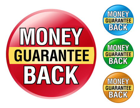 A colorful set of Money Back Guarantee Icons for your business. Vector