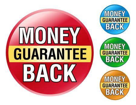 Un insieme variopinto di Money Back Guarantee icone per il vostro business. Archivio Fotografico - 4771611