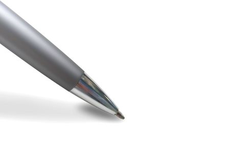 A closeup of a pen about to write something on a white background. Stock Photo - 4771619