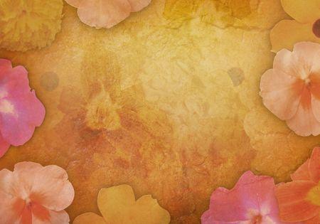 골동품 빈티지 스타일, 갈색 꽃 배경. 이미지 위에 텍스트를 추가하십시오.