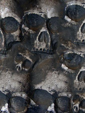 totenk�pfe: Mehrere Sch�deln sind an der Wand. Verwenden Sie diese Option f�r einen Hintergrund.
