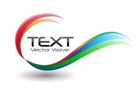 logos negocios: Un remolino de colores del arco iris logo s�mbolo sobre un fondo blanco