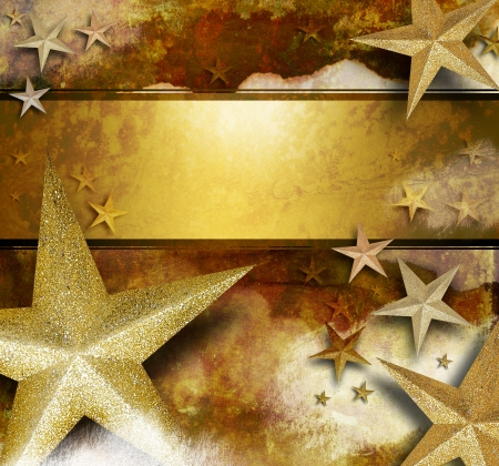 rusty background: A gold and yellow sparkle star background