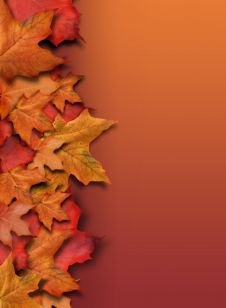 thanksgiving: An orange, red fall background border for the season