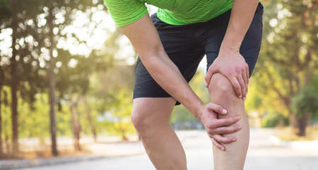 Running injury. Speed up before any exercise. Stock fotó
