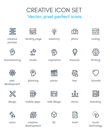 Creative package line icon set. Pixel perfect fully editable vector icon suitable for websites, info graphics and print media.