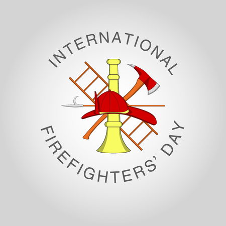 Illustration for International Firefighters' Day at may 4. Vector poster template. Ilustracja