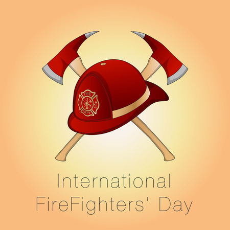 Illustration for International Firefighters' Day at may 4.