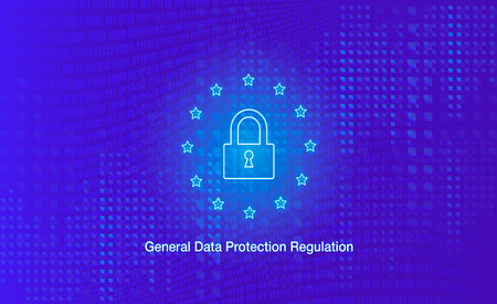 General Data Protection Regulation poster with a padlock