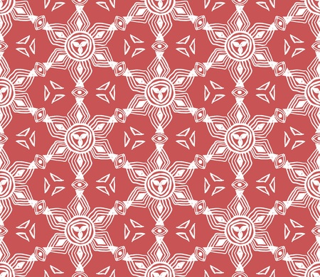 Ikat tribal art print. Seamless African pattern. Ethnic ornament on the carpet. Aztec style. Figure tribal embroidery. Indian, Mexican, folk pattern. Stock Vector - 102585775