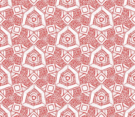 Ikat tribal art print. Seamless African pattern. Ethnic ornament on the carpet. Aztec style. Figure tribal embroidery. Indian, Mexican, folk pattern.