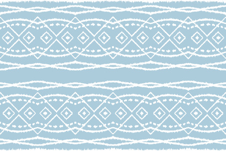 Ikat tribal art print. Seamless African pattern. Ethnic ornament on the carpet. Aztec style. Figure tribal embroidery. Indian, Mexican, folk pattern. African rug. Stock Vector - 105278062