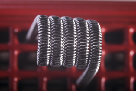 Alien Clapton coils example for vaping with electronic cigarette, e cig, ecigarette.