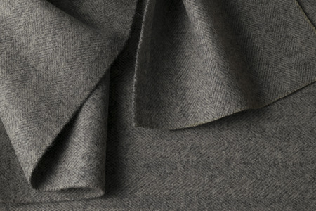 Gray wool fabric, textile with patterns background