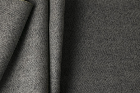 padding: Gray wool fabric, textile with patterns background