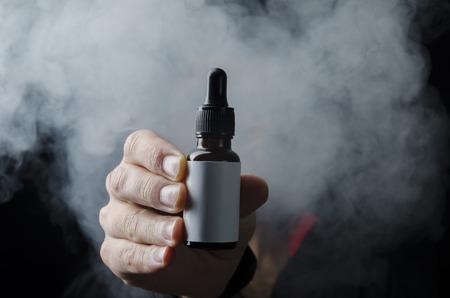 isolated e liquid e juice for electronic cigarette with smoke