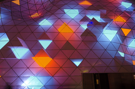 Eindhoven, Netherlands - november 16 2017, the blob at the 18 septemberplein during Glow Festival. Glow 2017 is the light and art festival of Eindhoven with light projections. Sajtókép