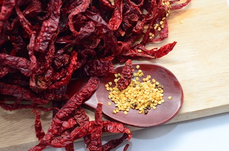 hottest: Dried red hot chili Stock Photo