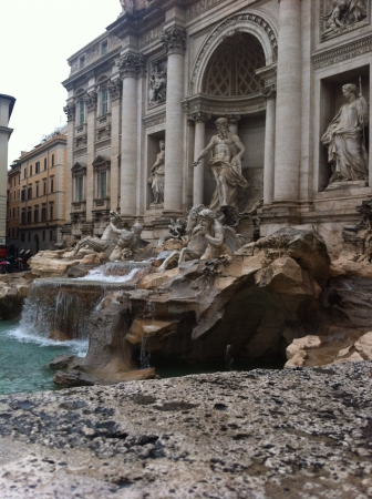fontana: Fontana De Trevi Rome Italy