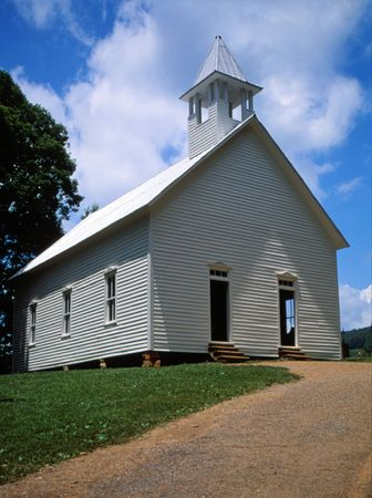 country church: Old Wooden Country Church Stock Photo