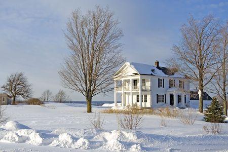 Neige d'hiver au Québec Banque d'images - 832940