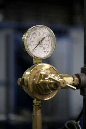 Closeup of a pressure gauge