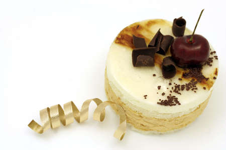 Pear mousse cake Stock Photo