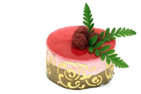 Raspberry mousse cake Stock Photo - 966062