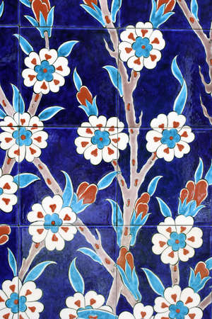 luxuriance: oriental painted ceramic tiles Stock Photo