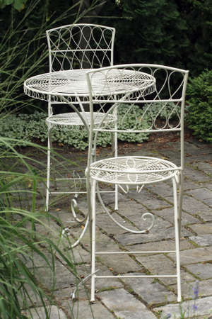 Metal garden furniture Stock Photo - 1304418