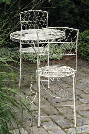 garden furniture: Metal garden furniture
