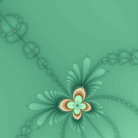 Tan and green butterfly background photo