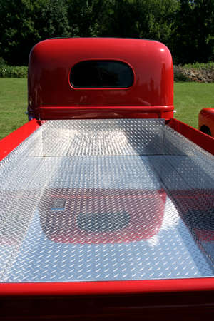 Vintage pick-up truck rear view