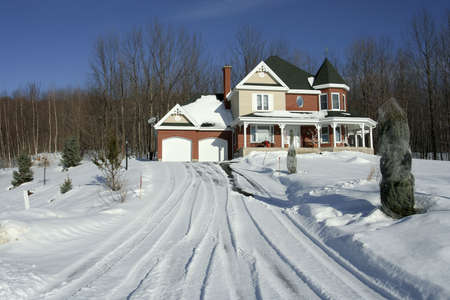Luxury home in winter Stock Photo - 2309142