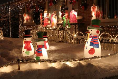 Christmas lights welcoming visitors