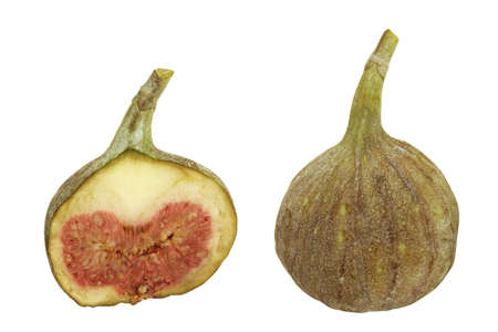 two and a half: Fresh figs isolated