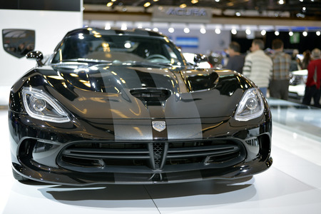 Dodge Viper SRT shown at The Montreal International Auto Show  at the Palais des Congres de Montreal 46th Edition