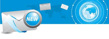 e-mali and world Stock Vector - 6014996