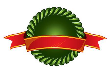 cockade: cockade and ribbon