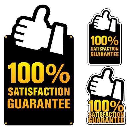 zufriedenheitsgarantie: garantieren label  Illustration