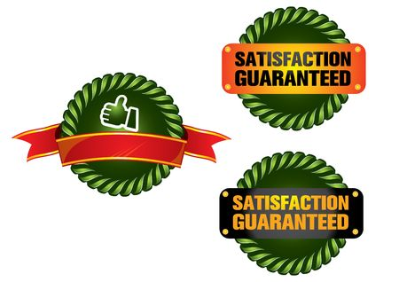 guarantee label  Illustration
