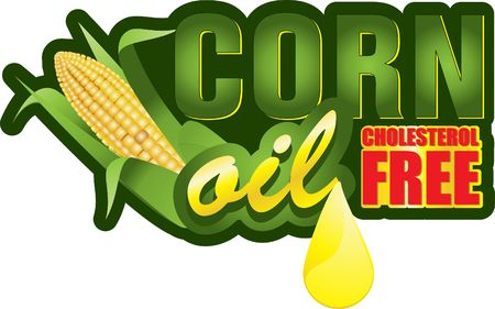 sweet corn: corncob Illustration
