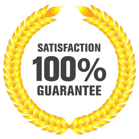 zufriedenheitsgarantie: garantierte Beschriftung und Schaltfl�chen Illustration