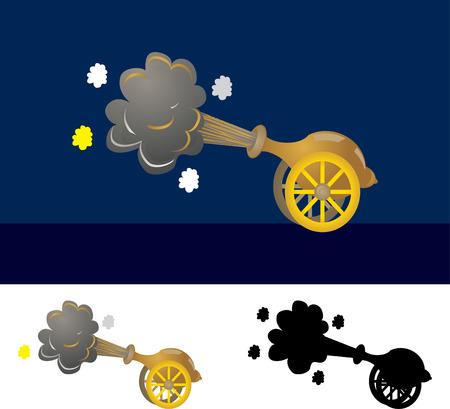 cannon gun: gun